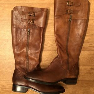 Arturo Chiang Knee High Leather Riding Boots Sz 9